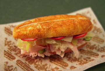 "mm124 1"" ham and cheese sub sandwich"