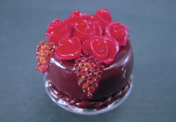 "mm502 1"" red rose chocolate cake"
