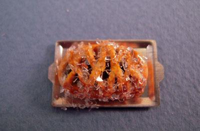 "1/2"" scale miniature blueberry strudel"