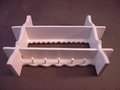 "n015 1"" scale bright delights white floating shelf with pegs"