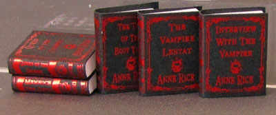 "1"" scale Ann Rice Red Foil Decorative Books"