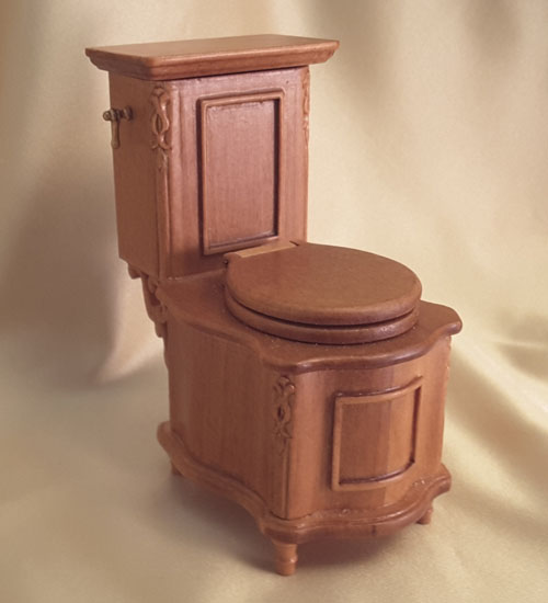 Majestic Mansions 1:12 Italia Cherry Bathroom Toilet