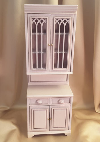 Majestic Mansions Washed White Cambridge Manor Single Cabinet 1:12 P095WT