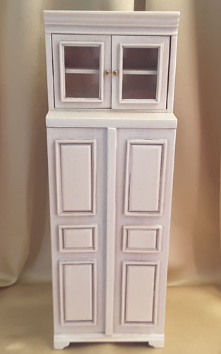 Majestic Mansions Washed White Cambridge Manor Refrigerator 1:12 P096WT