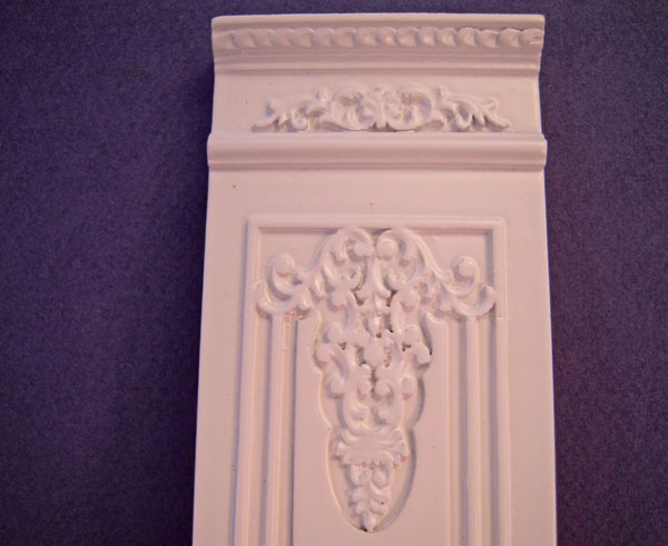 Miniature White French 2 inch Boiserie Style Decorative Wall Palenl 1:12 Scale