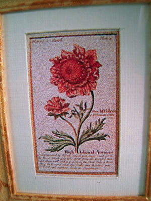 "Mc Bay Miniatures 1"" Scale Red Flower Framed Print"