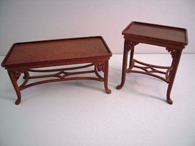 """1"""" scale Platinum Collection Chester living room set tables"""