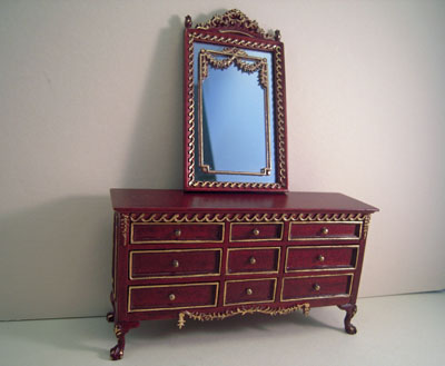 "1"" scale Platinum Collection Grant Bedroom Set Chest and Mirror"