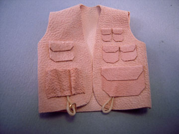 "pl512 1"" scale leather fishing vest"