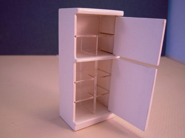 Refrigerator Mountain Miniatures White Three Piece Kitchen Set 1:24 scale