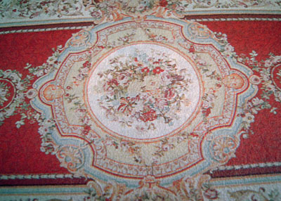 "McBay Miniatures Rich Red Floral 1"" Scale Rug"