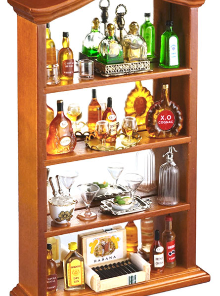 r7155 gentleman's filled liquor cabinet 1:12