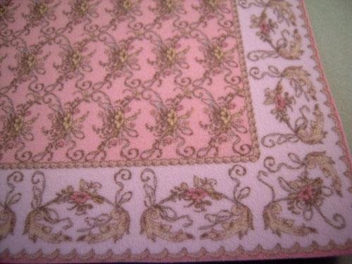 Brodnax St. Elizabeth Pink Carpet 1:24 scale