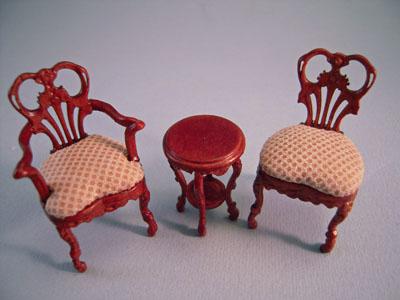 "s1057fdbnwnset 1/2"" scale bespaq fair lady gossip chairs"