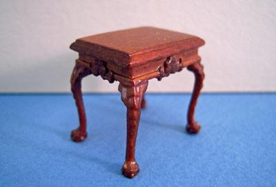 "Bespaq 1/2"" scale miniature walnut thomas end table"