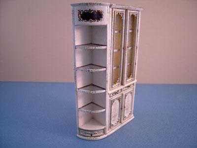 "Bespaq 1/2"" scale miniature Emporium End Corner Shelf"