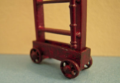 """Bespaq 1/2"""" scale mahogany Emporium store ladder with trolley"""
