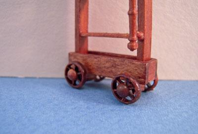 "Bespaq 1/2"" scale miniature walnut Emporium Shop Ladder"