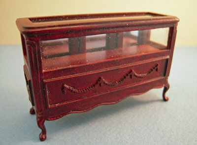"Bespaq 1/2"" scale miniature mahogany Shoppe Display Case"