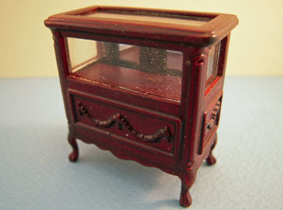 "1/2"" scale Bespaq miniature mahogany Shoppe Display Case Set"