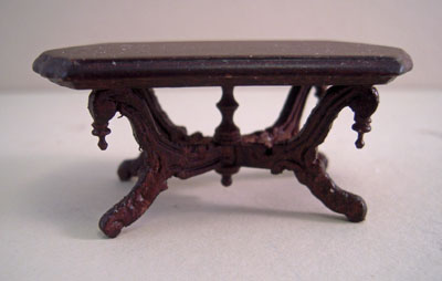 "1/2"" scale miniature Bespaq Vintage Mahogany Victorian coffee table"
