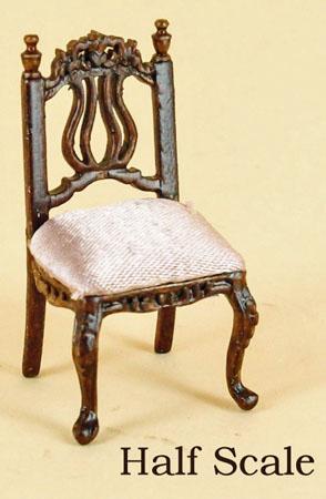 "1/2"" scale miniature Bespaq walnut Liliana desk chair"