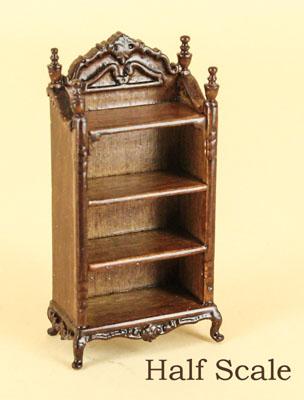 """1/2"""" scale miniature Bespaq walnut Liliana toy shelf"""