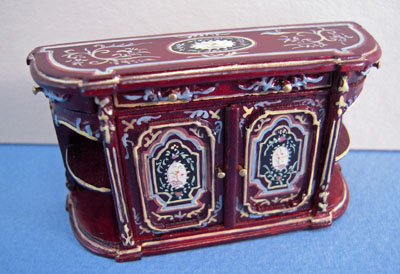 "Bespaq 1/2"" scale hand painted mahogany portia credenza"