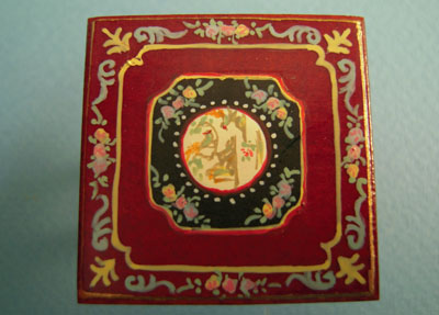 """Bespaq 1/2"""" scale hand painted mahogany portia game table top"""
