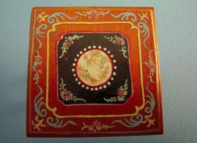 "1/2"" scale miniature Bespaq Walnut Portia game table top"