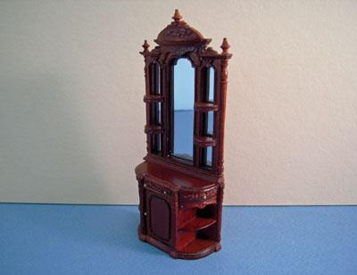 Bespaq Walnut Portia Collector's Cabinet