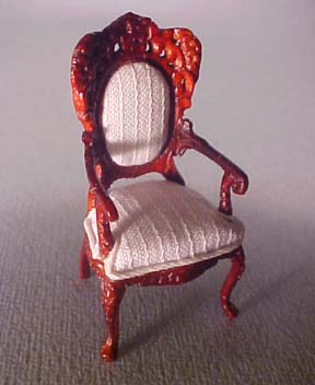 "s2555mh5 1/2"" scale bespaq mahogany rose wisteria chair"