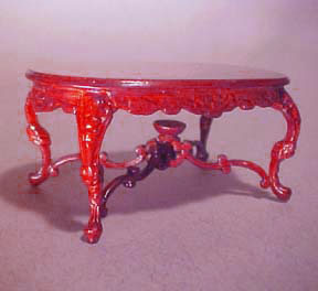 "s2557mh5 1/2"" scale rose wisteria bespaq mahogany table"