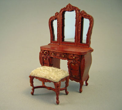 """s2573clgnwnset 1/2"""" scale bespaq vanity and bench"""