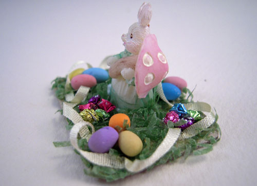 All Through The House Table Top Easter Bunny Centerpiece 1:12