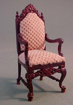 "bespaq 1/2"" scale mahogany chesney desk chair"