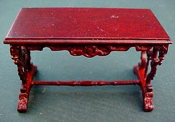 """bespaq 1/2"""" scale mahogany chesney library table"""