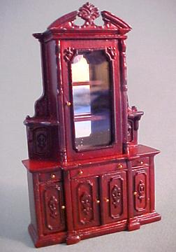 "Bespaq 1/2"" scale miniature Carrington Curio Cabinet Set"