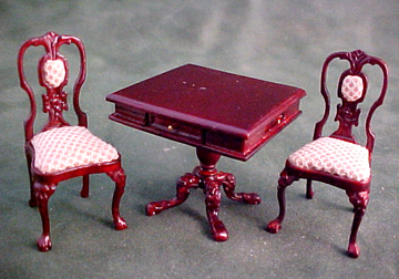 "1/2"" scale miniature Bespaq Carrington Gaming Table, Mahogany"