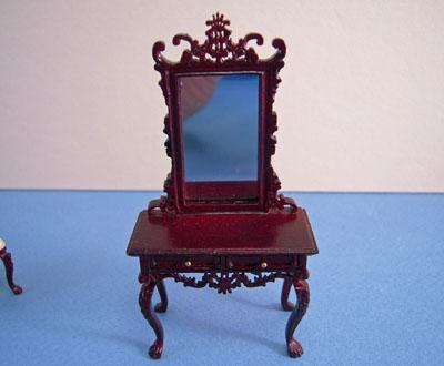 "Bespaq 1/2"" scale miniature Fantasy Lyre Vanity and Stool Set"