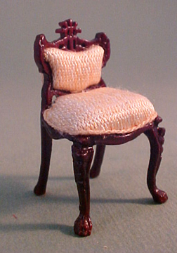 """Bespaq Fantasy Lyre 1/2"""" scale miniature vanity and stool"""