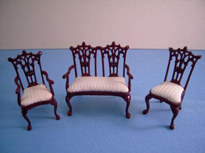 "Bespaq 1/2"" scale miniature Washington mahogany parlor set"