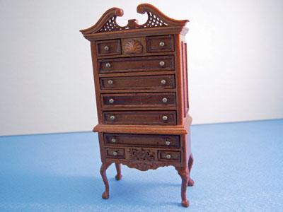 "Bespaq walnut 1/2"" scale miniature Washington Parlor Set"
