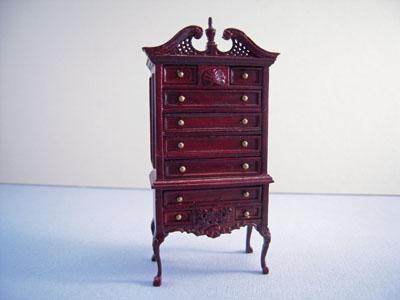 "Bespaq 1/2"" scale Washington mahogany miniature parlor set"