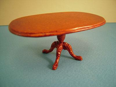 "1/2"" scale Bespaq Carrington walnut miniature dining room set"