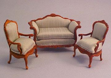 "1/2"" scale bespaq benoit bombe sofa and chairs"