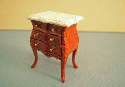 "1/2"" scale miniature Bespaq Benoit Bombe Commode"