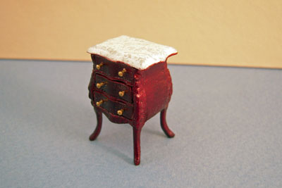 "Bespaq 1/2"" scale miniature Benoit Small Mahogany Bombe Commode"