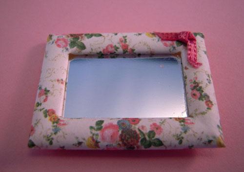 ESTATE SALE Shabby Chic Small Mirror 1:12 scale