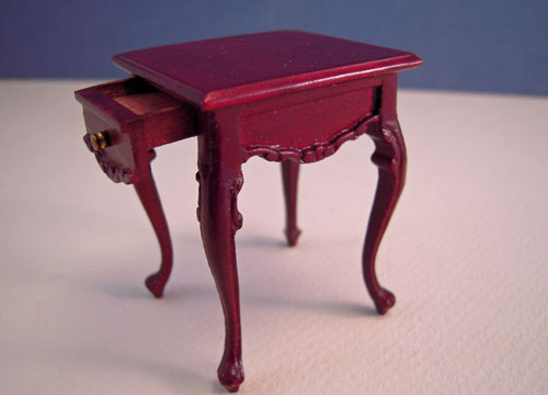 Estate Sale Bespaq Mahogany Lorraine End Table 1:12 Scale